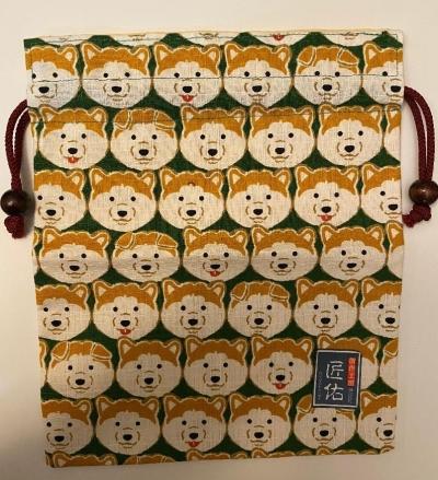 Akita Inu Drawstring bag